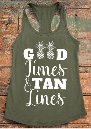 Good Times and Tan Lines Racerback Tank
