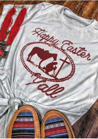 Happy Easter Y'all O-Neck T-Shirt Tee