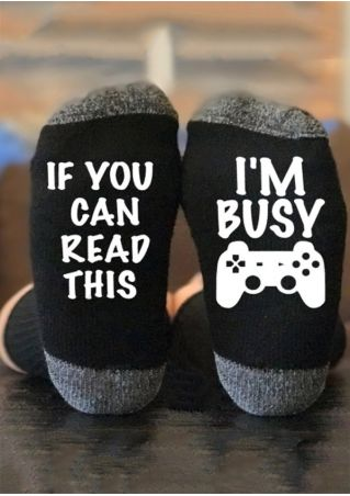 If You Can Read This I'm Busy Socks