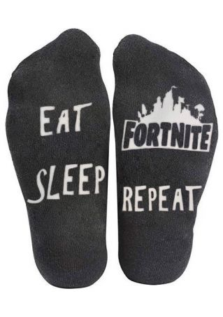 Eat Sleep Fortnite Repeat Socks