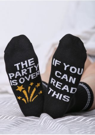 The Party Is Over Socks