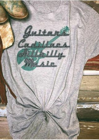 Guitars Cadillacs Hillbilly Music T-Shirt Tee