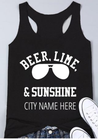 Beer Lime & Sunshine Tank
