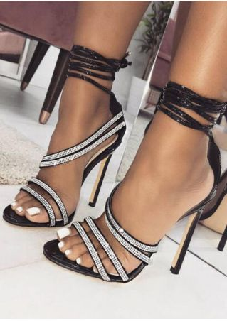 Summer Ankle Wrap Heeled Sandals