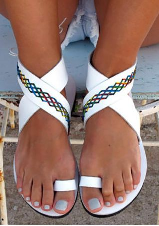 Summer Cross-Tied Flat Sandals