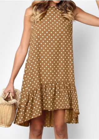 Polka Dot Ruffled Mini Dress