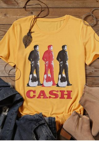 Johnny Cash Guitar T-Shirt Tee