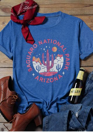Arizona Saguaro National Park Cactus T-Shirt Tee