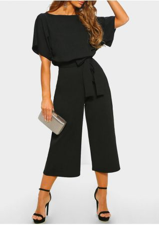 Solid Hollow Out Jumpsuit