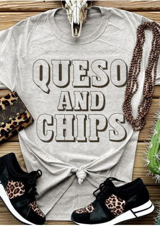 Queso And Chips O-Neck T-Shirt Tee