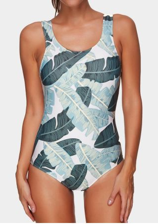 Leaf One-Piece Sexy Swimsuit