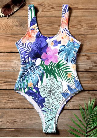 Floral One-Piece Sexy Swimsuit