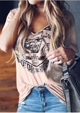 V-Neck Motor Ride Blouse