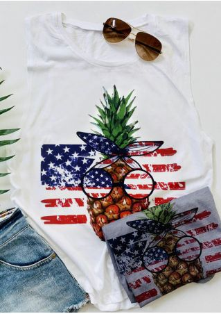 American Flag Pineapple Tank