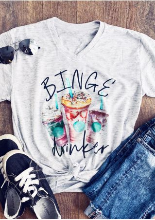 Binge Drinker V-Neck T-Shirt Tee