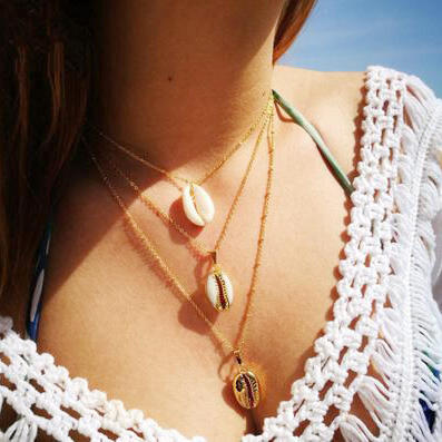 Shell Cowrie Chic Necklace