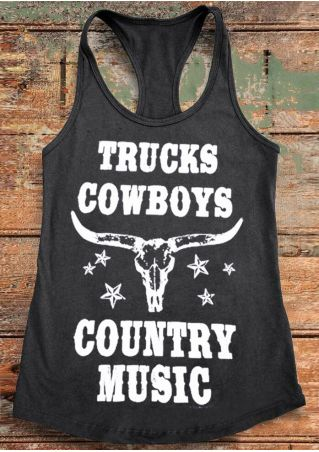 Trucks Cowboys Country Music Tank