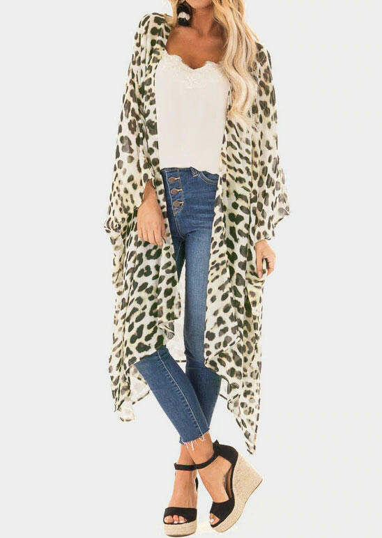 Image of Leopard Printed Long Cardigan - Leopard