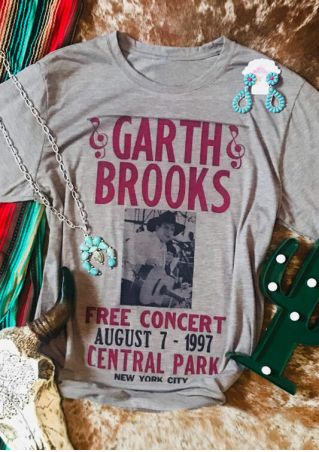 Garth Brooks Free Concert T-Shirt Tee