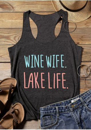 Wine Wife Lake Life Tank