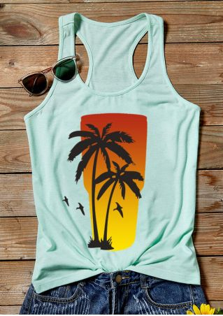 Coconut Tree Sunrise Tank