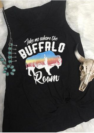 Buffalo Roam O-Neck Tank - Black