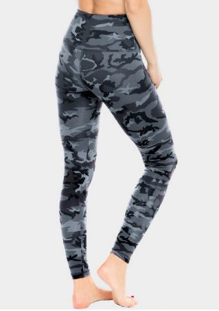 Camouflage Printed High Waist Sport Pants