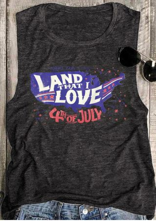 Land That I Love Tank - Gray