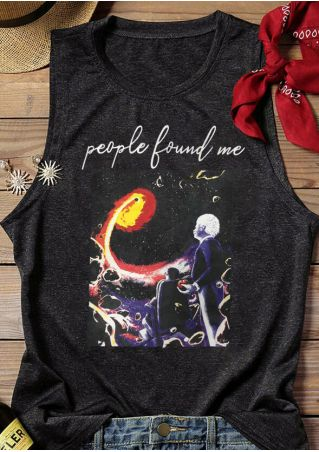 People Find Me Tank - Dark Gray