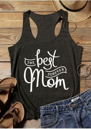 The Best Mom Forever Tank - Dark Gray