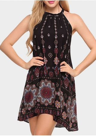 Floral Sleeveless A-Line Mini Dress