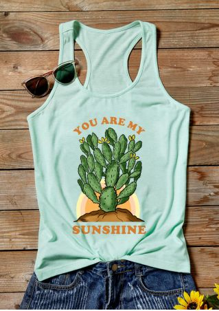 You Are My Sunshine Tank - Cyan