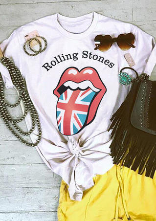 Rolling Stones The Union Flag T-Shirt Tee - White