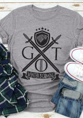 Got Winter Is Coming T-Shirt Tee - Gray