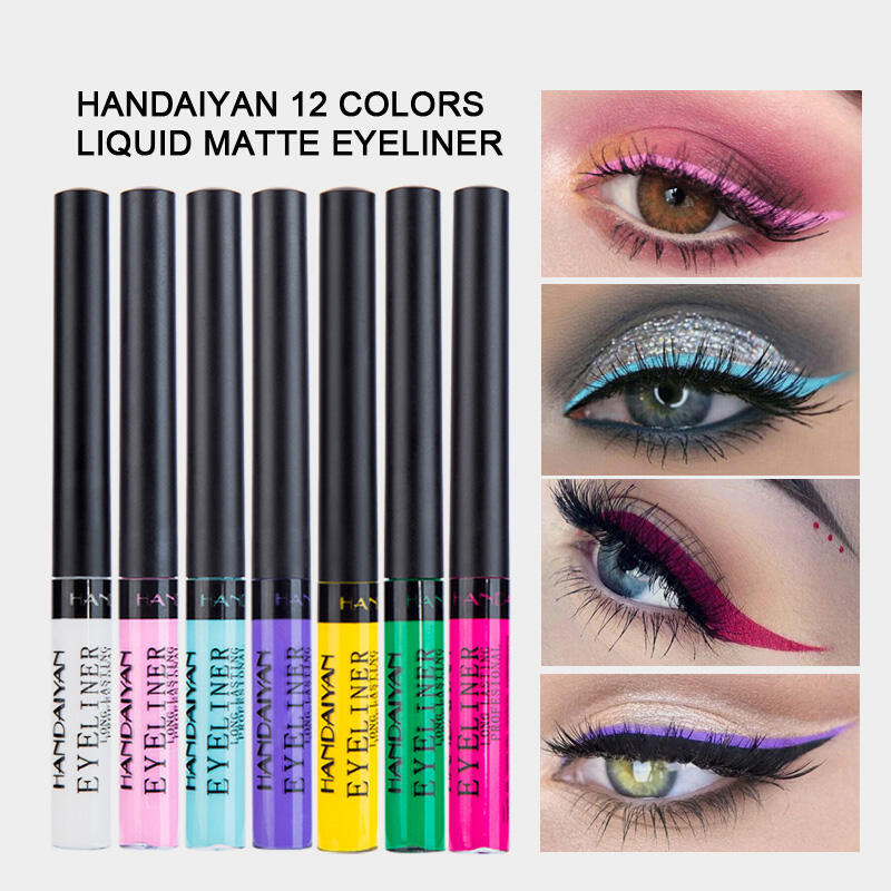 12 Color Matte Liquid Eyeliner