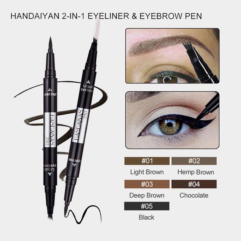Makeup 5 Color Eyebrows Pen Eyeliner