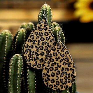 Leopard Pattern Earrings - Leopard