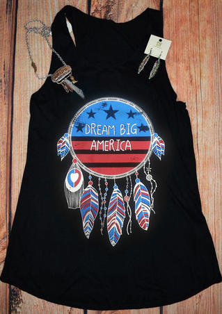 Dream Big America Tank - Black