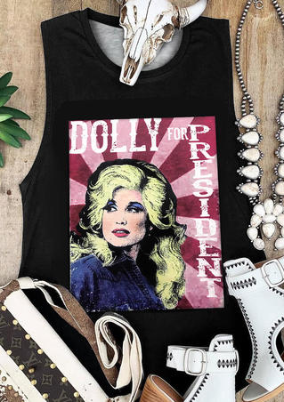 Dolly For President Tank - Black
