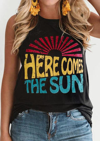 Here Comes The Sun Tank - Black