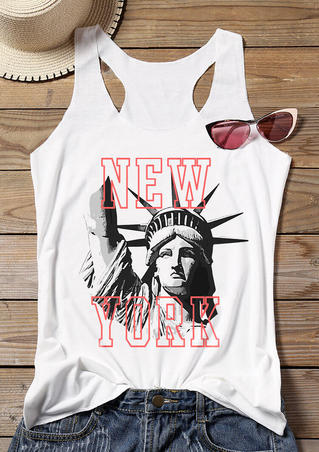 New York Statue Of Liberty Tank - White