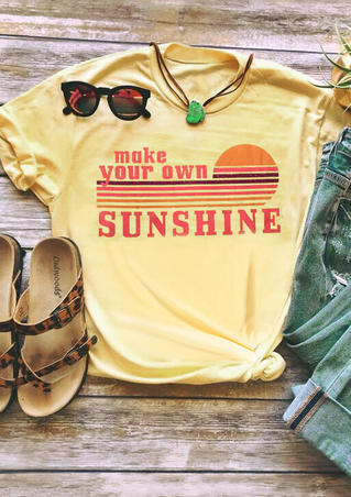 Make Your Own Sunshine T-Shirt Tee - Yellow