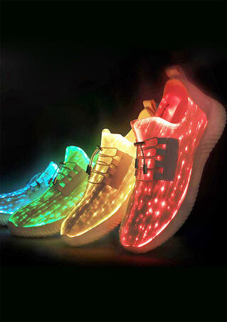 Multicolor LED Luminous Charging Sneakers - Men