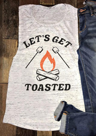 Let's Get Toasted Tank - Light Grey