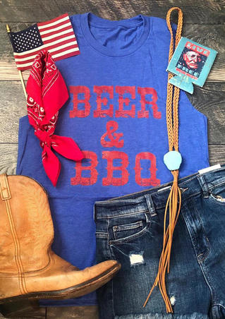 Beer & BBQ Tank - Blue