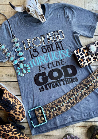 Leopard Is Great T-Shirt Tee - Blue