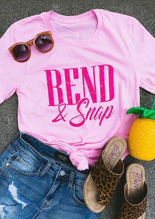 Bend & Snap T-Shirt Tee - Pink