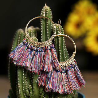 Women Bohemian Long Tassel Earrings