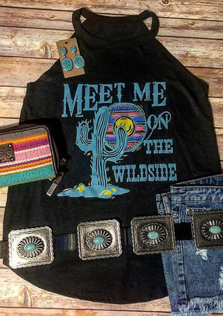 Meet Me On The Wildside Tank - Black
