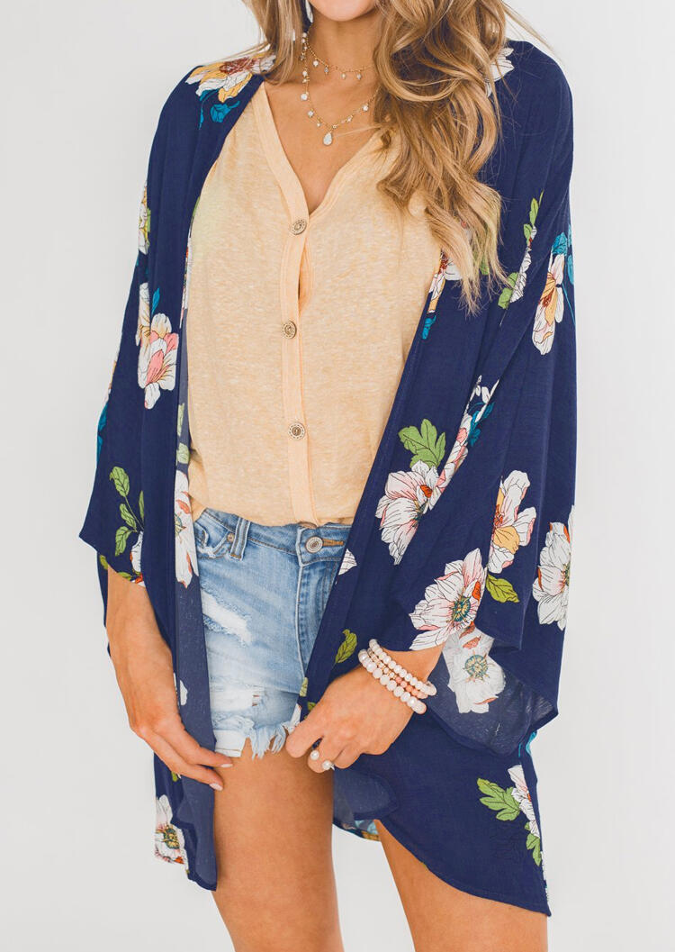 Floral_Long_Sleeve_Cardigan_without_Necklace_-_Deep_Blue